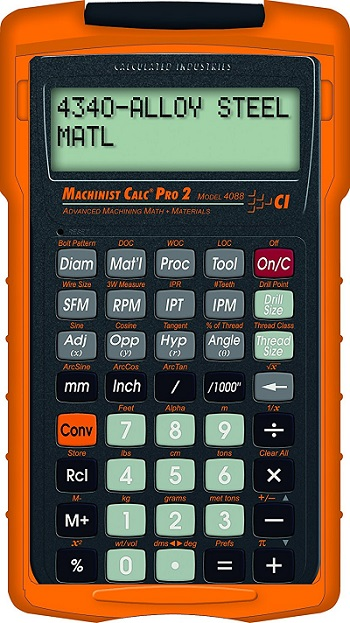Calculated Industries 4088 Machinist Calc Pro 2 calculator for machinists, supervisors, as well as shop owners