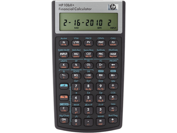 HP 10bII+ Financial Calculator, one of the best business calculators