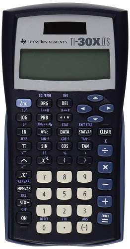 Texas Instruments TI-30X IIS calculator, that can crank out basic scientific calculations but also trigonometry calculations