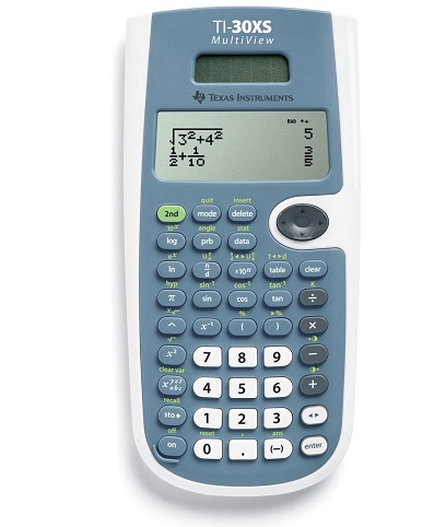 Texas Instruments TI-30XS MultiView calculator that also has a copy-and-paste feature
