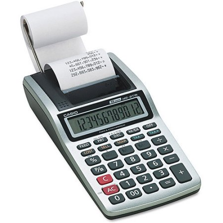 Casio HR-8TM Handheld Printing Calculator