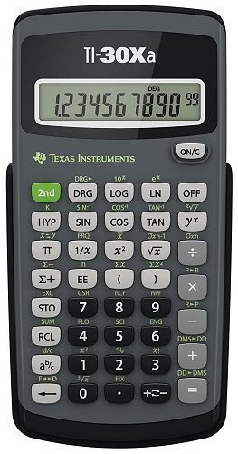 Texas Instruments TI-30Xa, one of the best scientific calculators