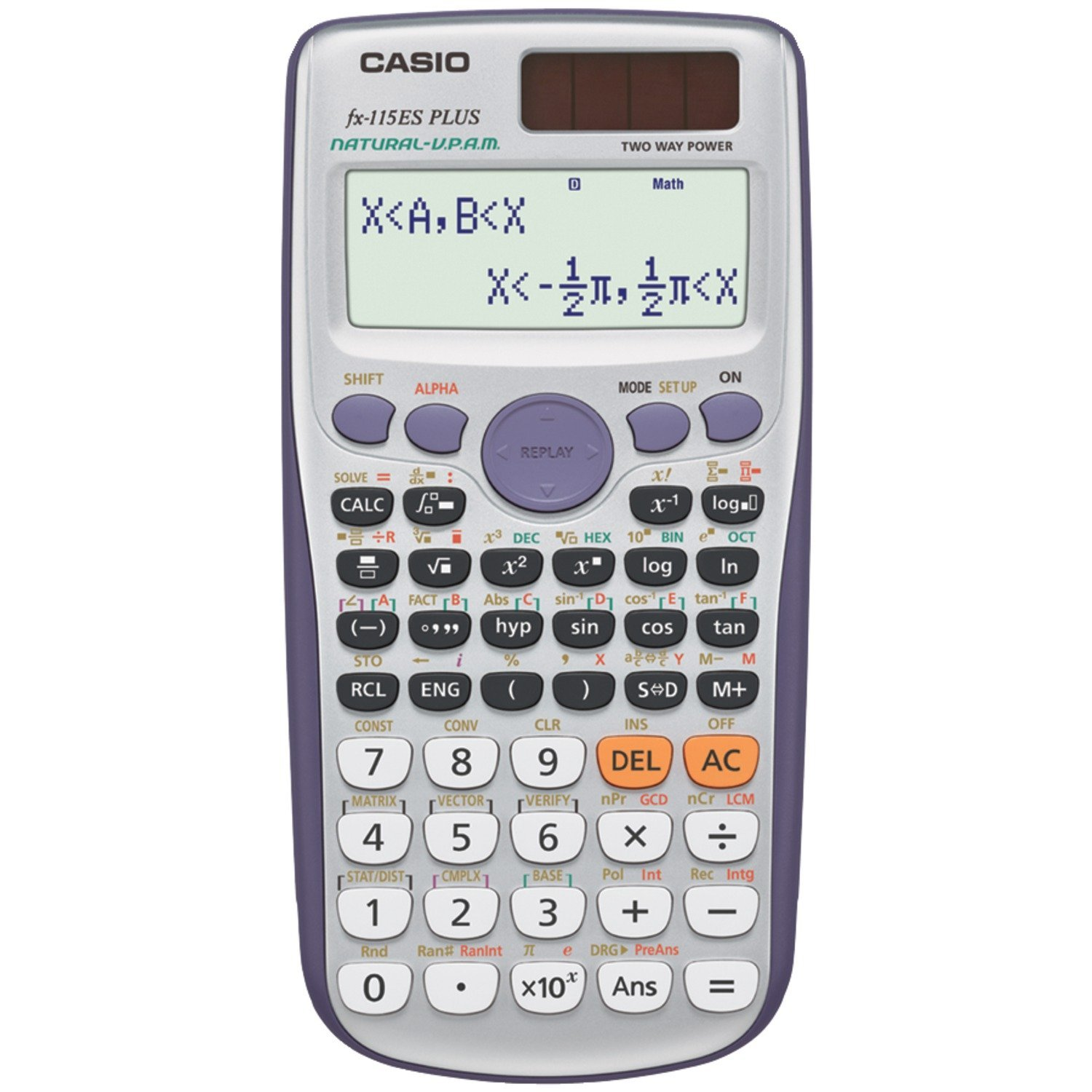 Casio fx-115ES PLUS Engineering/Scientific Calculator that has enhanced features and also a multi-line display allows