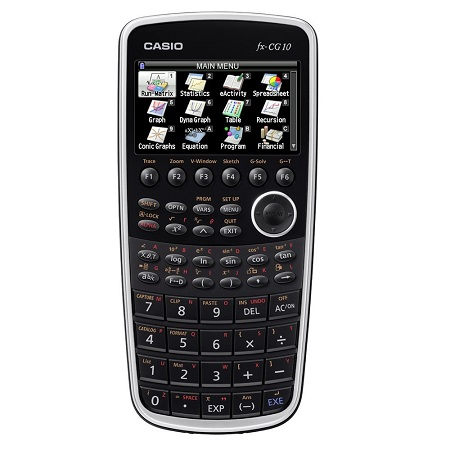 Casio fx-CG10 PRIZM Color Graphing Calculator that infuses real-life images with graphs and also has a full-color display