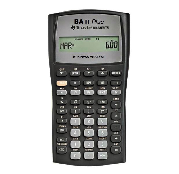 Texas Instruments BA II Plus Financial Calculator product photo