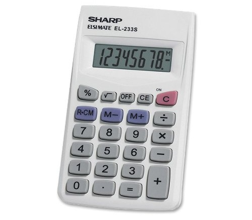 Sharp EL233SB basic calculator