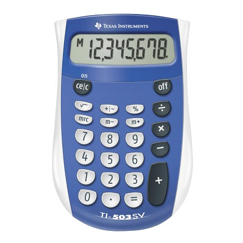 Texas Instruments 503SV/FBL/2L1, one of the best basic calculators