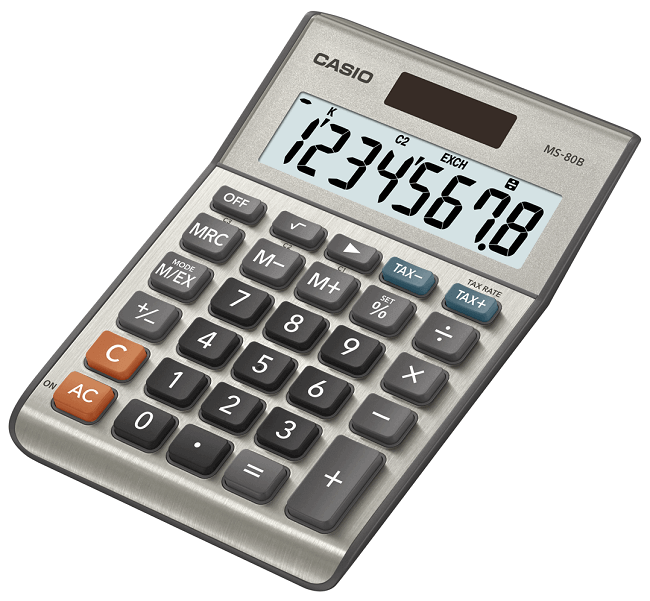 Casio MS-80B basic calculator