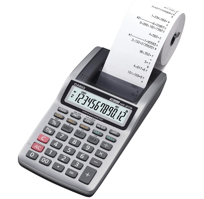 Casio HR-8TM Plus printing calculator