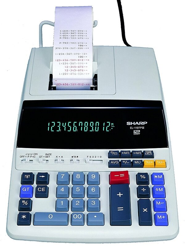 Canon MP25DV Standard Function Calculator