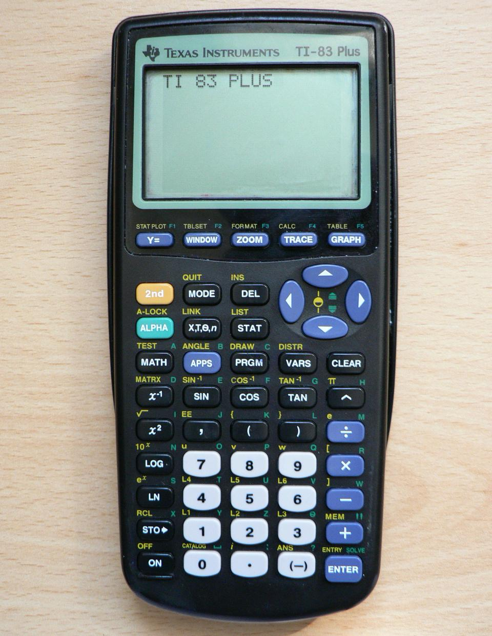 Ti 83 calculator